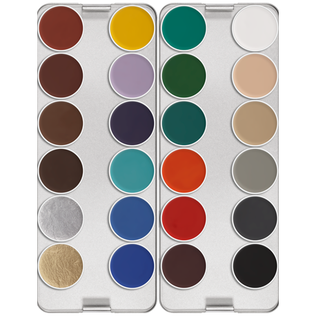 PALETTE 24 COULEURS AQUACOLOR 144 Ml