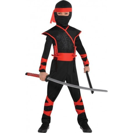 Costume Ninja 5 / 7 ans - 7 / 9 ans - 9 / 11 ans
