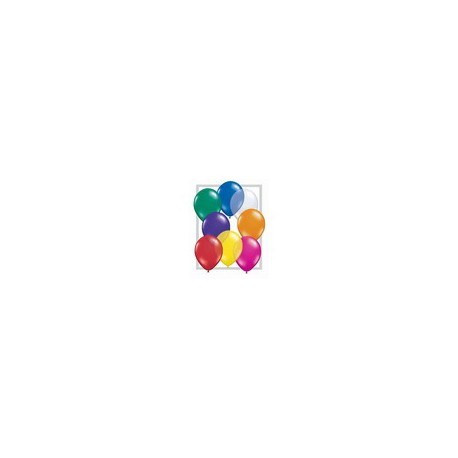 BALLONS RONDS MULTICOLORES TAILLE 6'