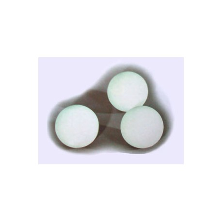 BALLE SILICONE 63 mm, BLANCHE