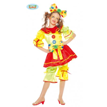 COSTUME CLOWN FILLE
