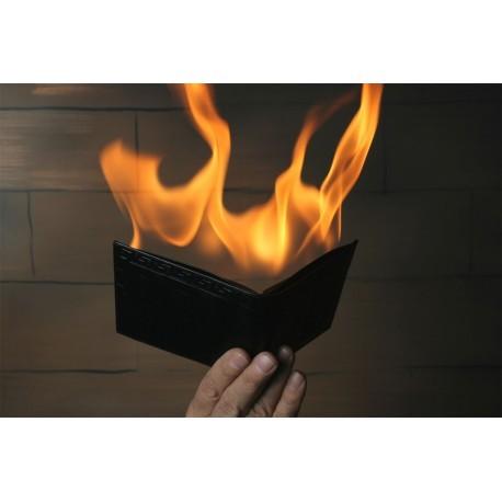 PORTE FEUILLE EN FEU ( FIRE WALLET) par PREMIUM MAGIC