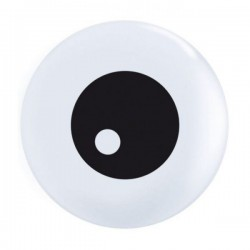 Ballons 5″ Friendly Eyeball Top Print – Qualatex sac de 100