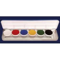 PALETTE AQUACOLOR 6 COULEURS