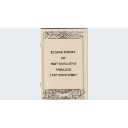 Livre Eugene Burger on Matt Schuliens's fabulous card discoveries