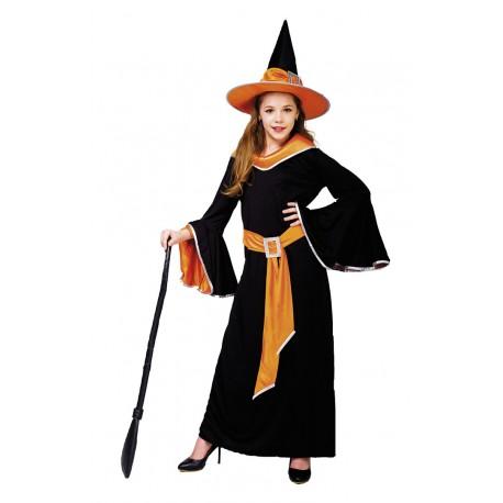 Costume SORCIERE noire et orange enfant