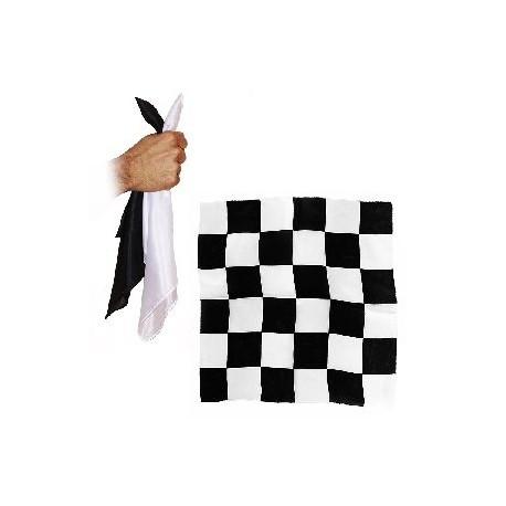 FOULARD BLENDO SITA noir et blanc et damier 30 cm